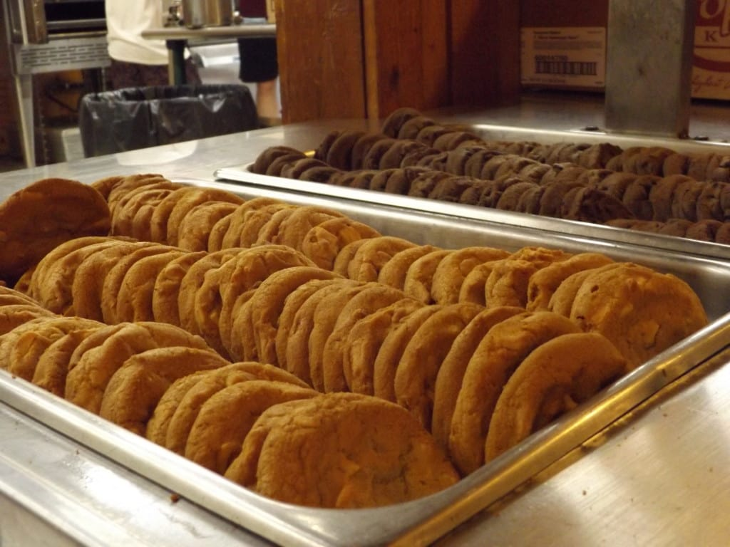 Camp Throwback's famous cafeteria food.