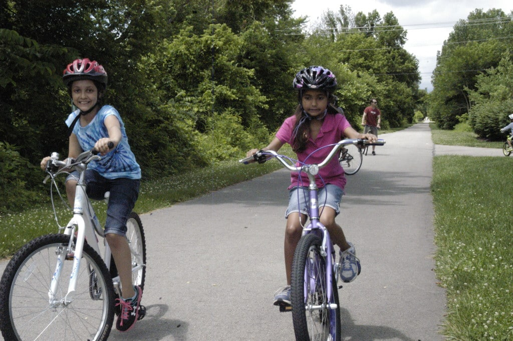 Youngsters enjoy the trail.
