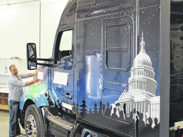 Capitol Tree truck wrapped in Plain City