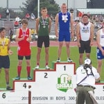 Evans finishes high school track career at Jesse Owens Stadium