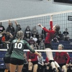 Lady Lakers win volleyball district opener in straight sets