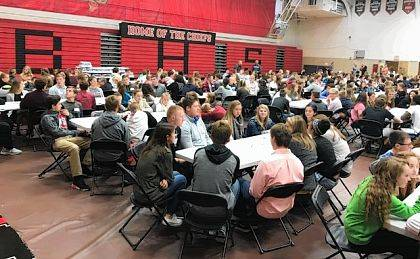 Nearly 500 high school and junior high athletes attended the Central Buckeye Conference Leadership Conference at Bellefontaine High School.