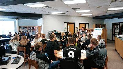 """A Youth Leadership program was held at Benjamin Logan on Jan. 18. Freshman Youth Leadership students from Indian Lake, Ben Logan, Riverside and Bellefontaine participated. Marcia O'Brien, owner of Life Reps, was the presenter. Students were asked to re-think their goals and to make them detailed and achievable. A student participant said, """"It can help me by dreaming bigger than I have in the past and making my goals more challenging."""""""