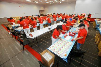 Honda associates assembled 50,000 meal kits to be distributed through the Second Harvest Food Bank in Clark, Champaign and Logan counties.