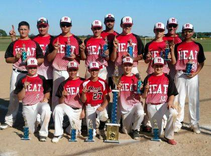 The Mid-State Heat 13U travel baseball team won the Marysville Mitts Dean Lowery Memorial Tournament over the June 2-3 weekend. The team went 5-0 and beat 3 Elite Level teams from the Columbus Area. The team consists of athletes from Benjamin Logan, Indian Lake, Riverside, Marysville and Graham. Front row: Trey Miracle, Simon Godwin, Riley Neer, Chase Adkins, Luke McKenrick. Middle row: Ben Sells, Grady Algire, Gavin Lones, Sam Ludlow, Kameron Allen, Ian Scheiderer. Back row (Coaches): J.D. Miracle, Andy Algire, Chris McKenrick.
