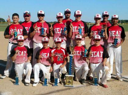The Mid-State Heat 13U travel baseball team won the Marysville Mitts Dean Lowery Memorial Tournament over the June 9-10 weekend. The team went 5-0 and beat 3 Elite Level teams from the Columbus Area. The team consists of athletes from Benjamin Logan, Indian Lake, Riverside, Marysville and Graham. Front row: Trey Miracle, Simon Godwin, Riley Neer, Chase Adkins, Luke McKenrick. Middle row: Ben Sells, Grady Algire, Gavin Lones, Sam Ludlow, Kameron Allen, Ian Scheiderer. Back row (Coaches): J.D. Miracle, Andy Algire, Chris McKenrick.