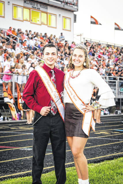 West Liberty-Salem's Homecoming king and queen are Cayden Whitman and Gabby Hollar. The school held its Homecoming ceremony prior to the football game on Sept. 14. Whitman is the son of James and Lana Whitman. Hollar is the daughter of Aaron and Kim Hollar. A Homecoming Dance was held on Sept. 15 at the school with a great turnout of students. WL-S defeated Catholic Central 63-0. The Tigers' record for the season is 3-1.