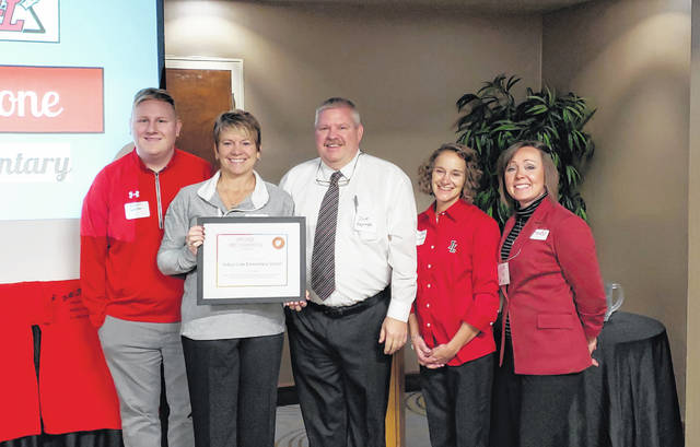 From left are Justin Welker, Pam Scarpella, Jeff Reprogle, Suzy Mallory and Tiffini Flugga.