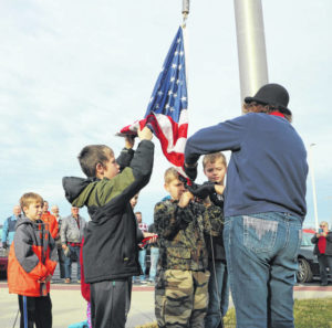 Elementary students give rousing 'Thanks' to veterans