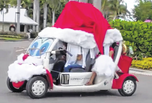 Decorate your golf cart and join the parade this Saturday.