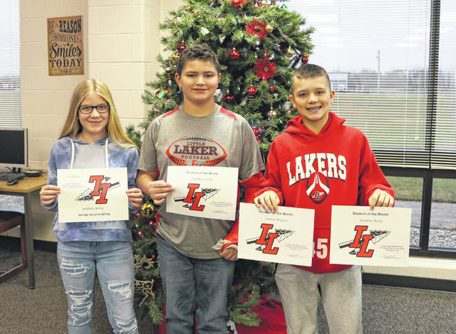 These Indian Lake Middle School Students of the Month are ending 2018 with a major award! Congratulations to the latest picks for ILMS Students of the Month: ILMS 8th grader Jonathan Henry (not pictured), 7th grader Landen Wisener, 6th grader Bradley Cooley and 5th grader Aliya Campbell (pictured in order). These students are chosen by their teachers and staff for demonstrating good citizenship, earning good grades and having a positive attitude. They receive a certificate, a homework pass, a pass to the front of the lunch line for a month, a free Cassano's pizza and an ice cream treat.