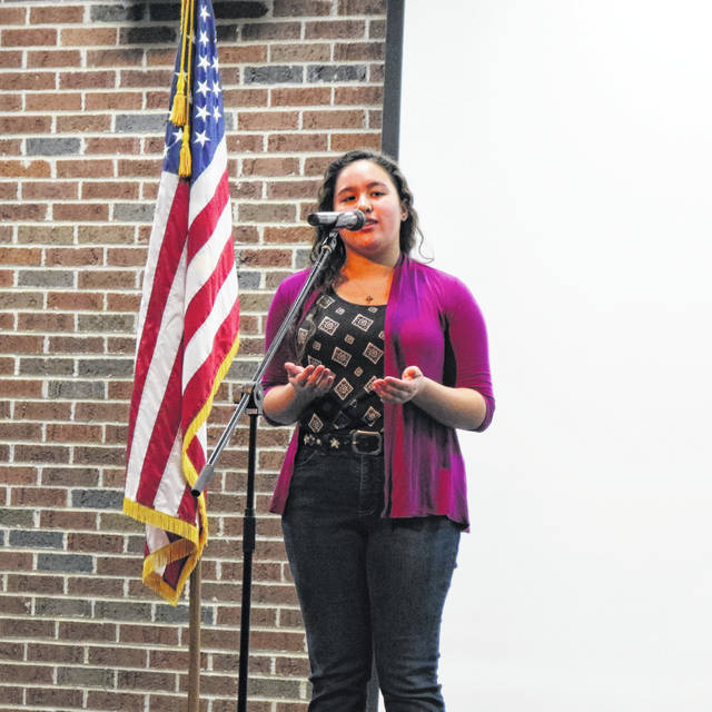 Xienna Cafe will compete in Poetry Out Loud's Regional Semi-Finals in Columbus.