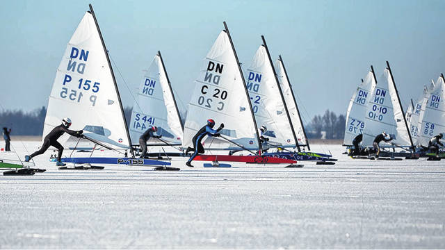 The competition is fast and furious in world-class ice boating championships. Athletes on ice are in hot pursuit of gold medals in the World Chanpionships.