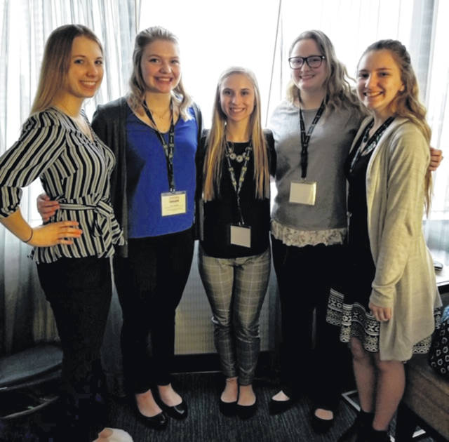 From left are Lindsay Berg, Kelly Shoffner, Ashlyn Huffer, Belle Elliott and Kendra Dunn.
