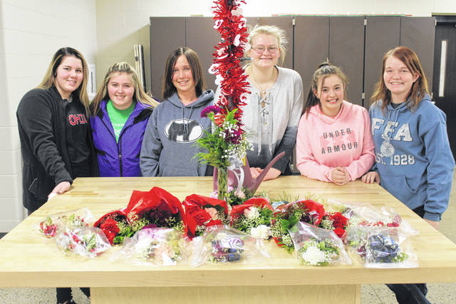 The Riverside FFA Chapter traveled to Apollo's Floriculture FFA program to learn about floral design. FFA students from Apollo worked with the Riverside FFA members. The group learned to make ribbon bows, corsages and bud vases and to implement proper design in placement of flowers. The students will use this experience for a floriculture contest in April.