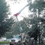 AEP responds to downed power line