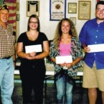 VFW Post 9053 awards scholarships