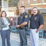 Myers receives Golden Handcuff Award