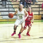 Lady Eagles rally past Trimble 45-36