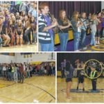 Purple and Gold:Tornadoes host playoff pep rally