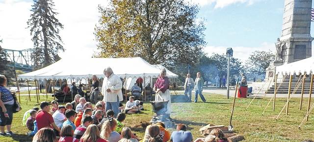 Learning about colonial life at Battle Days with its many demonstrations and activities.