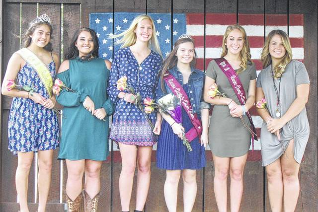 The 2017 Party in the Park Queen candidates and the 2016 Party in the Park Queen are pictured following Saturday's crowning. Pictured from left are 2016 Queen Marissa Johnson, candidate Jolisha Ervin, Sailor Warden, 2017 Queen Nikita Wood, First Runner-up Bailee Floyd and Lauren Lavender.