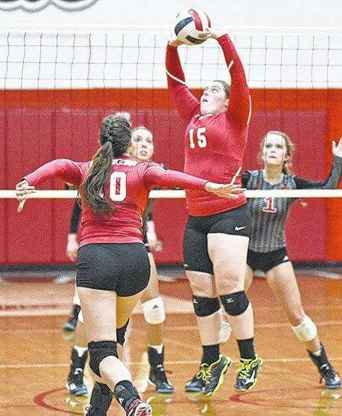 Rio Grande's Carly Shriver had 10 assists in the RedStorm's 3-0 (26-24, 25-23, 25-18) loss at Ohio Christian University on Tuesday night. (URG Courtesy photo)
