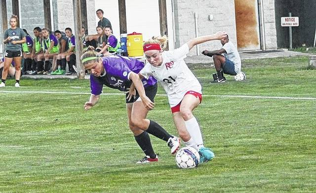 Rio Grande's Payten Davis scored a pair of first half goals to lead the RedStorm in a 3-0 win over Goshen College, Saturday night, at Evan E. Davis Field. The win snapped a four-game losing streak for the RedStorm.