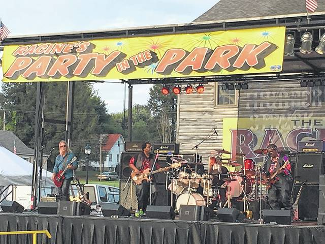 Blitzkrieg performs on Friday evening at Racine's Party in the Park.