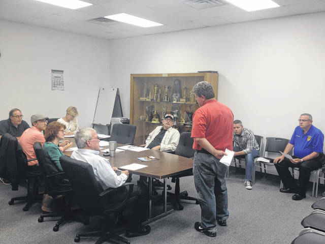 Fire Chief Rick Blaettnar talks with council during Monday's meeting.