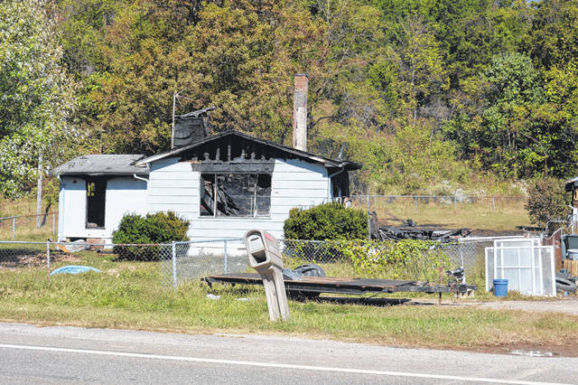 After area law enforcement served a search warrant Sunday to collect malnourished animals, the home at 7658 State Route 588 reportedly caught fire at 3:04 a.m. Tuesday.
