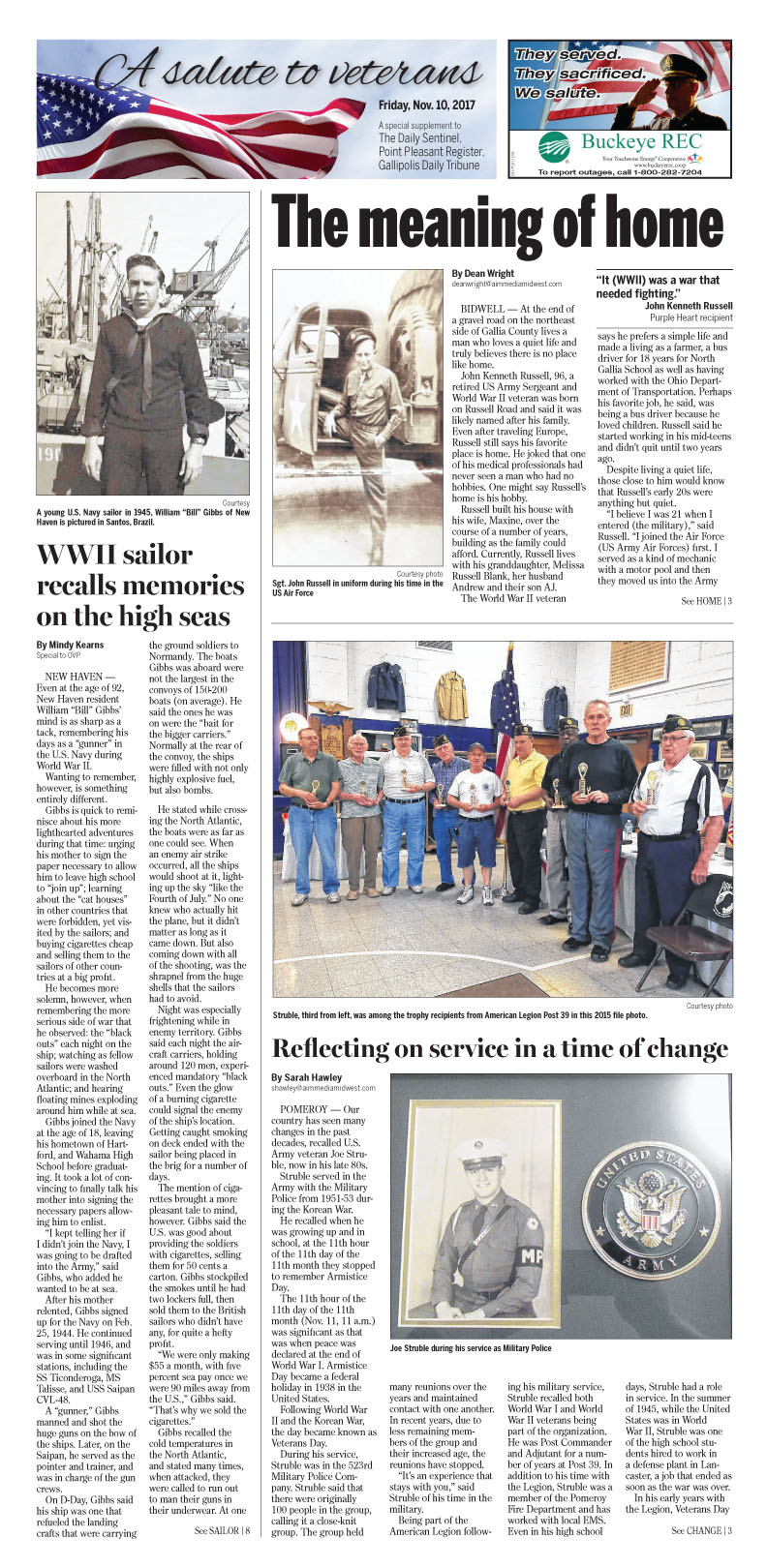 A Salute to Veterans 2017 - Pomeroy Daily Sentinel