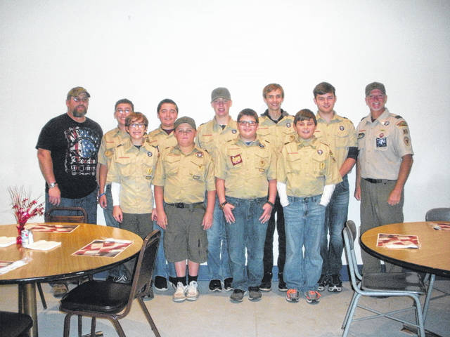 Taking part in Saturday's event were Derek Hartman, Ken Smith, Boy Scout Troop 91 members Andrew Compston, Ayden Womeldorf, James Wilt, Mason White, Derran Runyon, Ryan Perry, Marcus Sleigh, Harry Smith, Adam Tishnor.