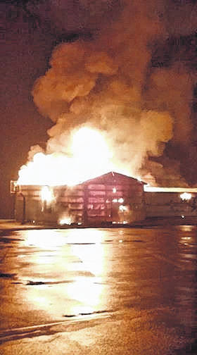 The rekindle of the fire at the Eastern wrestling building caused extensive damage to the structure.