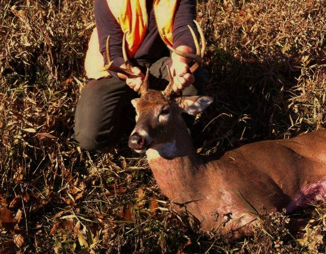 This 8 point buck was harvested the first day of deer gun season in Raccoon Township, and was the first white-tail for the hunter.