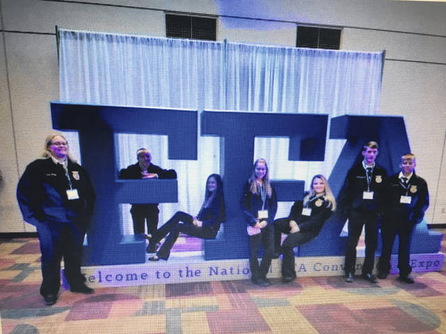 Students who attended the 2017 National FFA Convention were Caroline Roush, Layne Caldwell, Annie McGrath, Renea Doczi, Courtnee Williams, Michael Kesterson, and Zach Williams.