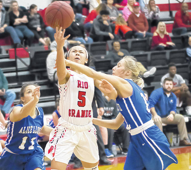 Rio Grande freshman Chyna Chambers had a career-high 16 points in Tuesday night's 74-64 win over Asbury University in Wilmore, Ky.