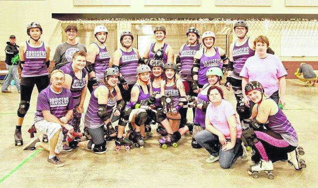 The Silver Bridge Bruisers started in 2015 and currently have about 20 members. They travel to surrounding states and cities to compete against other roller derby teams.