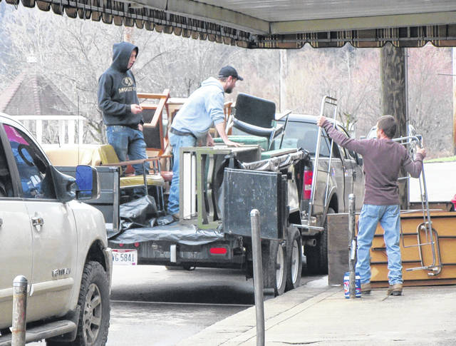 Businesses along Main Street in Pomeroy were once again packing up as flood waters are projected to be on the streets and in the buildings in the coming days.