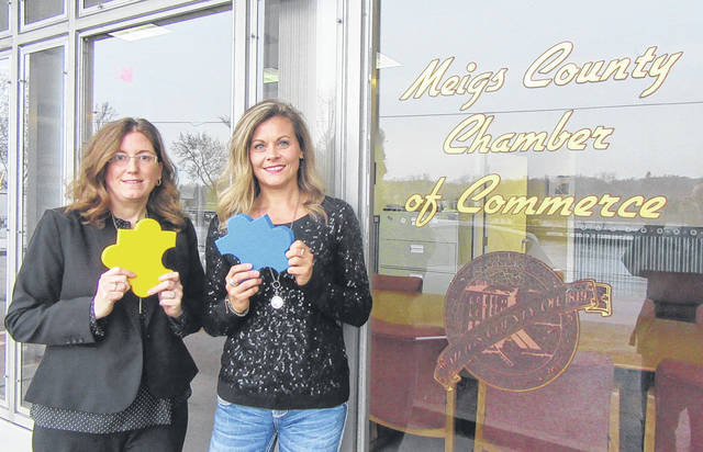 Newly named Meigs County Chamber of Commerce Executive Director Shelly Combs, right, is pictured with Chamber President Tina Richards.