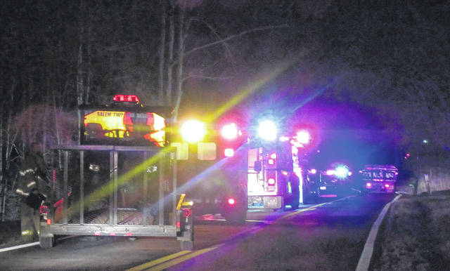 First responders were called to the scene of a mobile home on State Route 325 on Thursday evening.