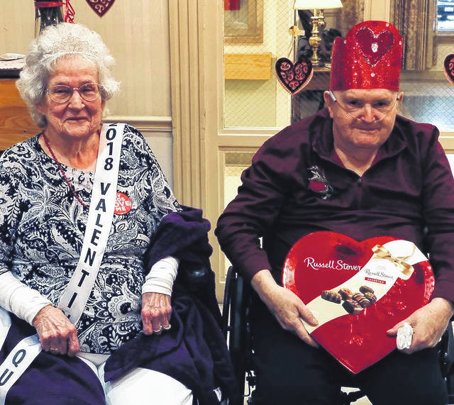 Overbrook Valentine's Queen Marjorie Moody and King Truman Hall