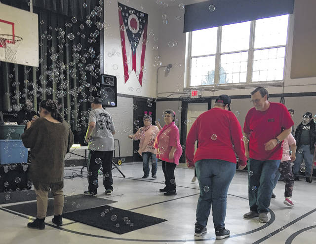 Buckeye Community Services clients and staff took part in a Valentine's Day eventon Saturday in Syracuse.
