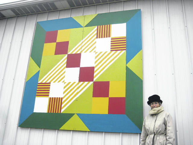 "The Altizer property hosts the ""Jacob's Ladder"" quilt square at 3835 Ohio 325 south."
