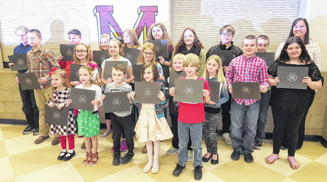 Meigs Local honored Students of the Month for January and February, first though twelfth grade.
