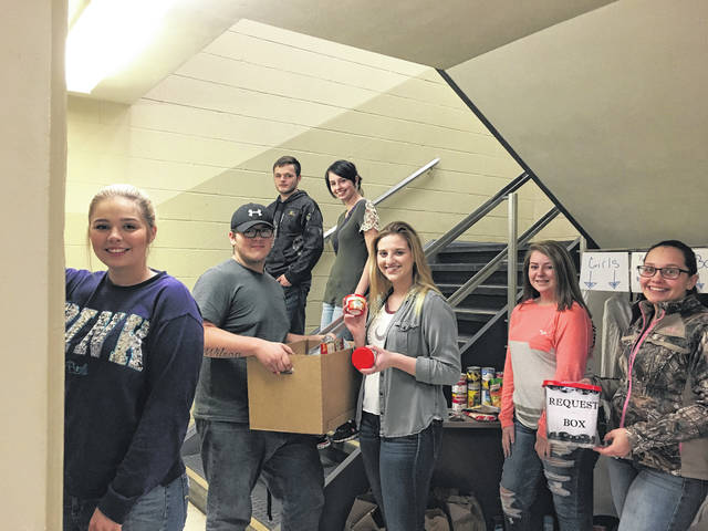 Students from Meigs High School's Career Based Intervention (CBI) class, pictured, created Care by the Stairs as a community project.