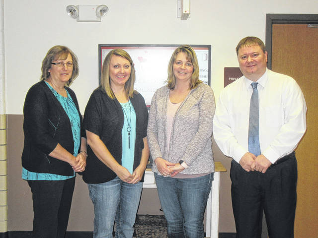 Meigs Local Treasurer/CFO Roy Johnson, right, is pictured with treasurer's office staff Debbie Drake, Beckie Blake and Melissa Lambert.
