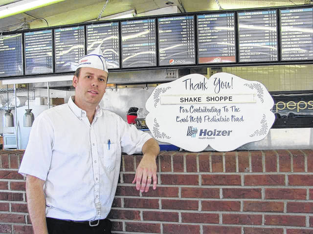 Shake Shoppe, represented here by owner, Tim Snedaker, is this month's sponsor for the Holzer Pediatric Fund.