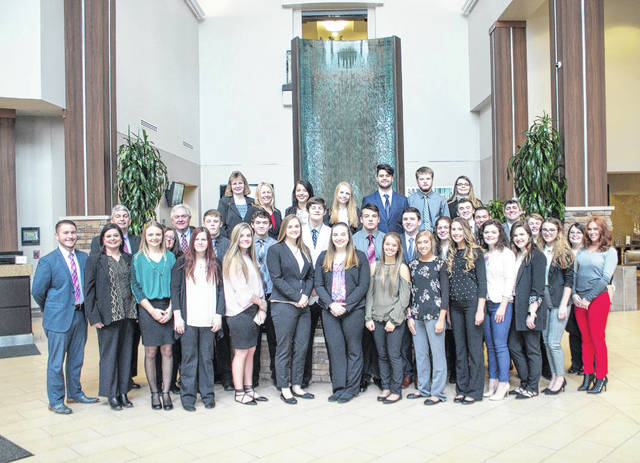 Members of the Farmers Bank Junior Board of Directors, accompanied by bank representatives and economic development director Perry Varnadoe, spent time in Columbus recently learning about business, banking and government.