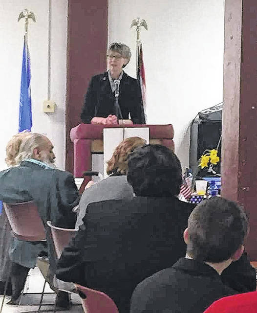 Justice Mary DeGenaro, pictured, was recently appointed to the Ohio Supreme Court by Gov. John Kasich. She spoke at last week's Lincoln Day Dinner in Meigs County.